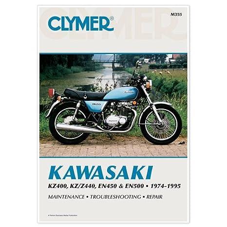 amazon com clymer repair manual for kawasaki kz400 440 en450 500 74 rh amazon com 1971 Kawasaki F7 175 1971 Kawasaki Big Horn 125