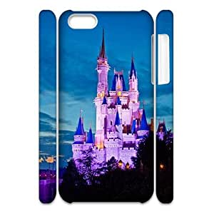 3D Stevebrown5v Best Magic Kingdom Attractions , Ride Guide Cases for IPhone 5C, with White
