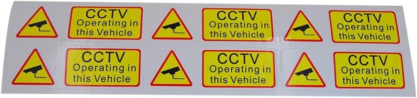 Set CCTV Che operano in Questo Taxi Bus di Sicurezza dellautomobile del Veicolo Adesivi di Sicurezza avvertenza Lables Impermeabili Yihaifu avviso Auto 6pcs
