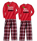 Footsteps Clothing Family Christmas Pajamas Santa and Mrs. Claus Flannel PJS