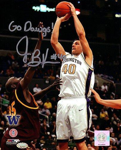 Jon Brockman Signed 8x10 Photograph Washington Huskies Go Dawgs! - Autographed Photo
