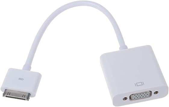 SODIAL(R) Apple iPad Conector de base a Adaptador de cable VGA ...