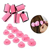 Hair Curler Rollers for Girl Women, 6 Pcs Foam Hair Curler Rollers + 2 pack Silicon Hair Style Rollers,Soft Magic DIY Hair Style Tools with Nat Cap set for Long Short Hair
