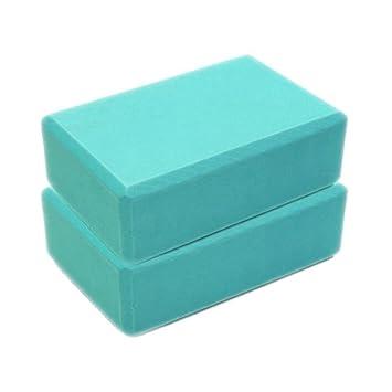 Sonmer Fitness Yoga Foam Brick,For Cushion EVA Gym Training (Sky Blue)