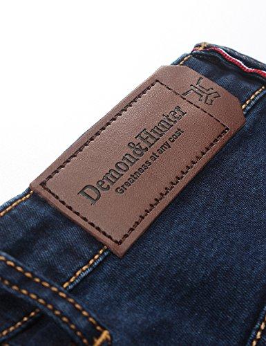 Demon&Hunter 608 Series Mujer Skinny Pantalones Vaqueros E8048 x Azul marina x Skinny