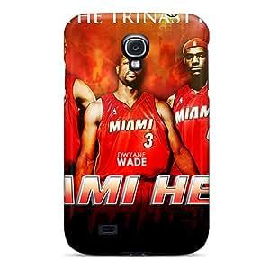 PhilHolmes Samsung Galaxy S4 Bumper Hard Phone Cover Custom Nice Miami Heat Series [dHX5392GLAr]