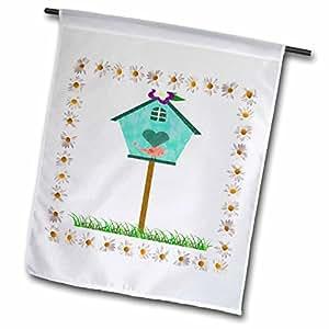 Florene Country Life - Country Bird House - 12 x 18 inch Garden Flag (fl_52337_1)