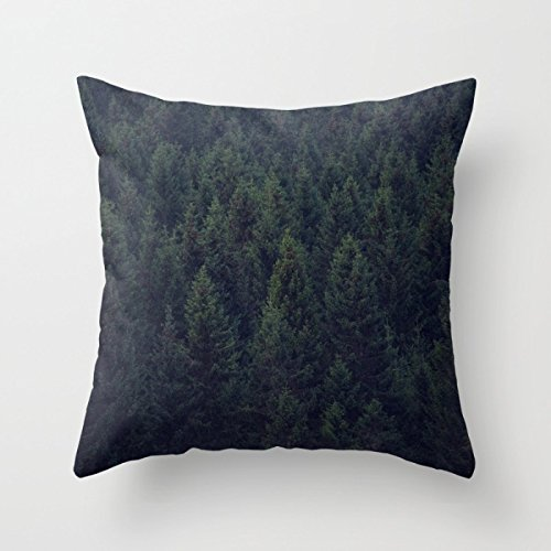 Bestseason Pillow Covers Of Mountians Forest 16 X 16 Inches / 40 By 40 Cm,best Fit For Birthday,teens,shop,deck Chair,bar Seat,indoor 2 (Lattice European Sham)