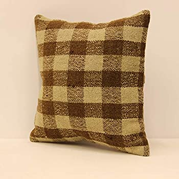 Tribal Pillow Turkish Vintage Carpet Pillow Cover size : 16/' x 16/' inches Nomadic Pillow