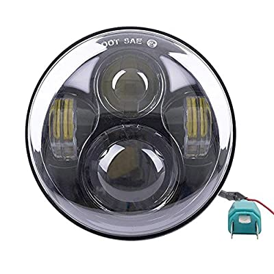 5.75 inch Motorcycle Projector Daymaker LED Headlight for Harley Dyna Wide Glide FXDWG Headlamp