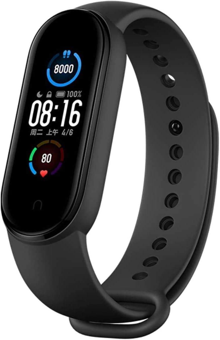 Xiaomi Nuevo Band 5 - Monitor de frecuencia cardíaca, Monitor de sueño, Salud Femenina, 11 Modos de Entrenamiento, 50 Metros a Prueba de Agua
