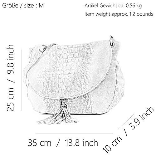 sac cuir Kroko italien nappa femme à sac Braun cuir pour T68 Sac main sacoche Wildleder sac vZqgtt