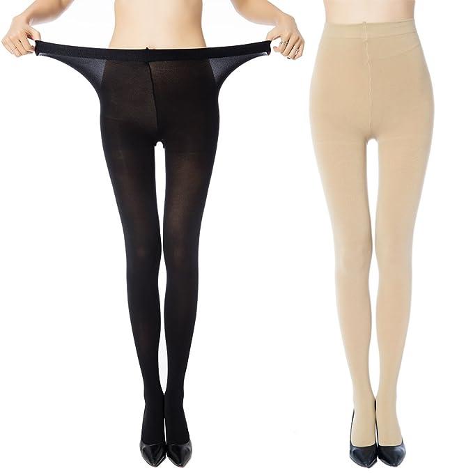 Manzi - 2 o 4 pares de medias de control de talla grande para mujer ...