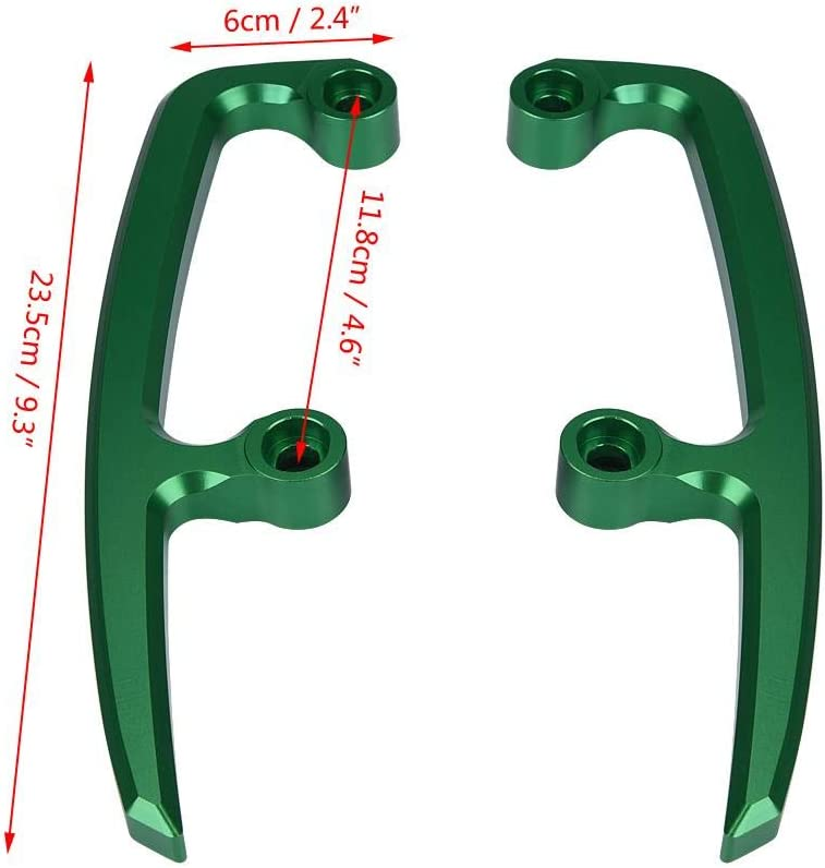 nero e verde Colore : Black 1 coppia di manubrio posteriore in alluminio CNC per passeggero Kit barra di guida per Kawasaki Z650 17-18 Barra di sostegno posteriore