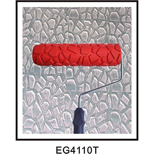 9.25inch Rouleau de Peinture en Relief Motif Grain avec Poigné e en Plastique Générique