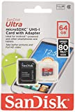 Lot of 2 SanDisk Ultra 64GB MicroSDXC Memory Flash Card UHS-I Class 10 up to 80MBs With Adapter SDSQUNC-064G-GN6MA Pack + 2 Jewel Cases