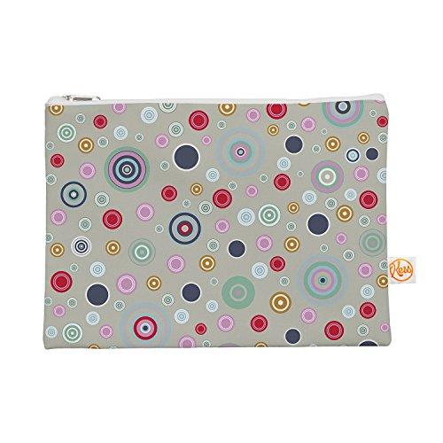 Kess eigene 12,5x 21,6cm Suzanne Carter Kreis Kreis I Alles-Tasche, Grau/Multicolor