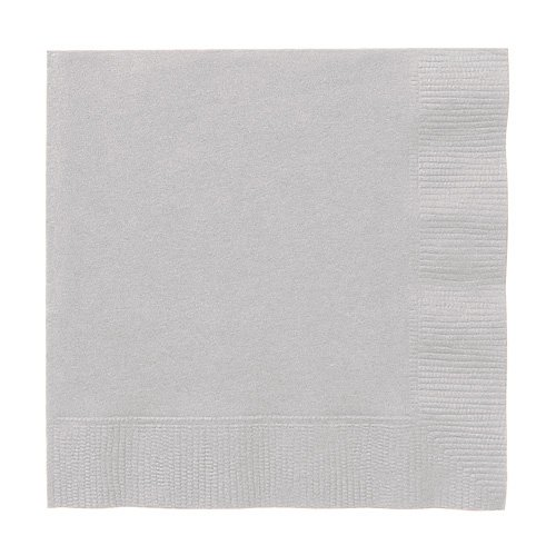 Silver 3-Ply Luncheon Napkins | Party Supply | 240 ct.