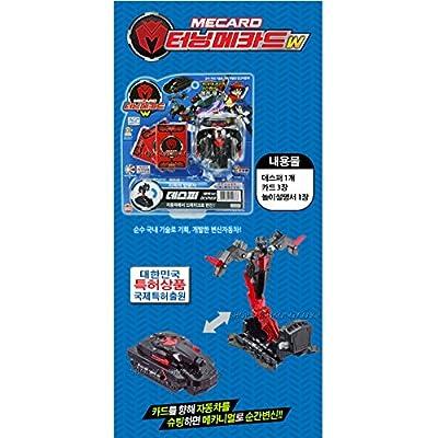 DESPHER Black-TURNING MECARD Transforming Robot Car Toys by TURNING MECARD: Toys & Games