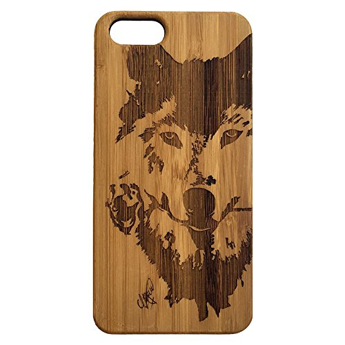 newest 5e8c6 b4d4d Wolf Rose iPhone SE or iPhone 5 or 5S Case. Bamboo Wood Cell Phone Cover  Skin. Native American Spirit Animal Totem. iMakeTheCase Phone Case