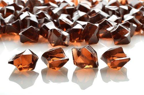 PaperLanternStore.com Brown Colored Gemstones Acrylic Crystal Wedding Table Confetti Vase Filler (3/4 lb Bag)