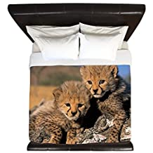 CafePress - Cheetah Cubs - King Duvet Cover, Printed Comforter Cover, Unique Bedding, Microfiber