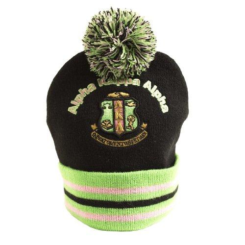 Alpha Kappa Alpha Winter Knit Beanie w/Pompom - Kappa Beanie