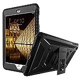 ULAK iPad Mini Case [KNOX ARMOR] Full-Body Rugged Hybrid Protective Case Kickstand for Apple iPad Mini 1/2/3 with Built-in Screen Protector (Black)
