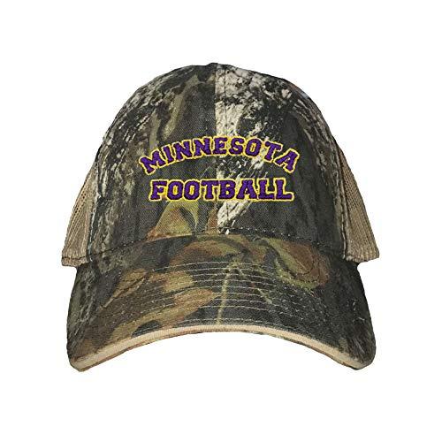 Mossy Oak Breakup/Khaki Adult Minnesota Football Embroidered Distressed Trucker Cap ()