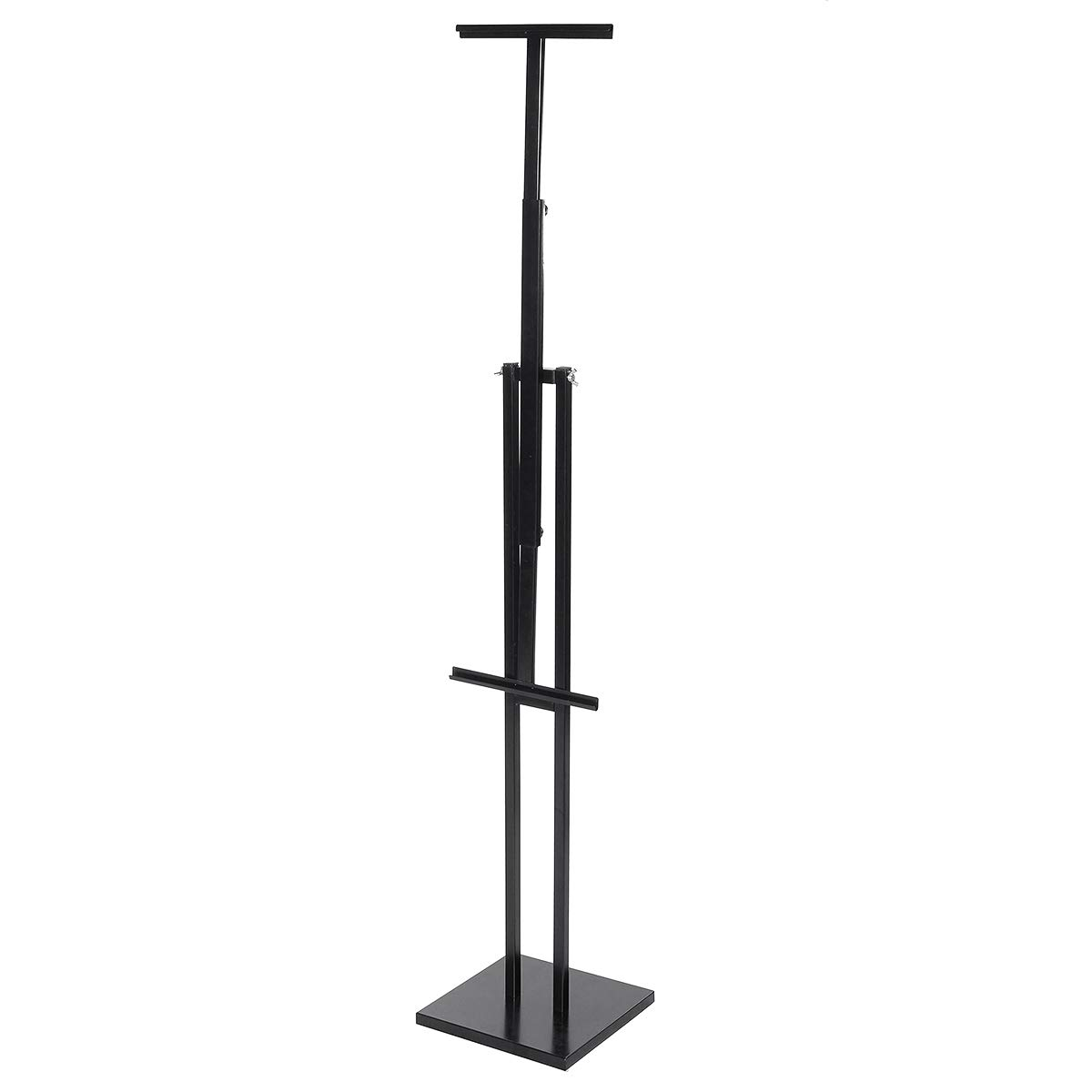 Tutoy Adjustable Two-Sided Kt Board Poster Stand Shelf Rack - Black White