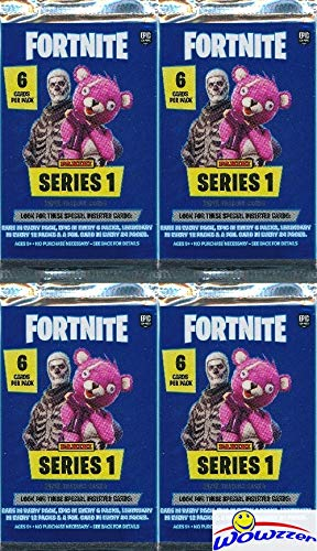 2019 Panini FORTNITE Trading Cards Collection of FOUR(4) Factory Sealed HOBBY Packs with 24 Cards! Look for Holofoil Parallels of Uncommon, Rare, Epic & Legendary Cards! Brand New! WOWZZER!