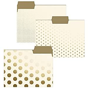 Cream and Gold File Folder Set