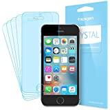 iPhone SE Screen Protector, Spigen® [Crystal Film] [5 Pack] Apple iPhone SE / 5S / 5C / 5 Screen Protector [Ultra Crystal Clear - Easy Install Wing] Japanese Base - 041FL20165