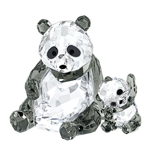 Swarovski Panda Mother with Baby Crystal Figurine