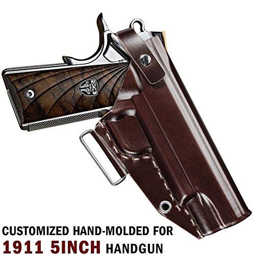 - Aliruy 1911 Holster, Right Handed, OWB Gun Holster for 1911 Style Handgun, Ultimate Leather Handmade Waistband Belt Holster Fits Colt, Kimber, Para, Springfield