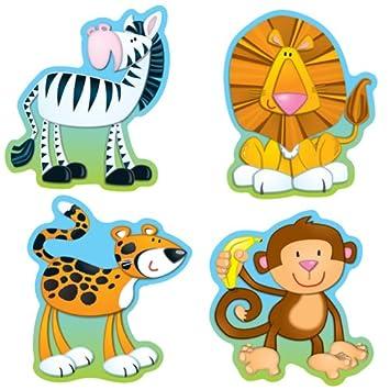 Amazon jungle animals cut outs inc carson dellosa jungle animals cut outs voltagebd Images
