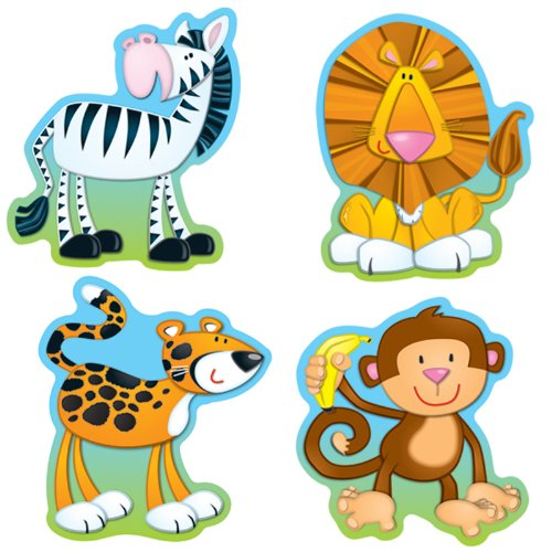 Carson Dellosa Jungle Animals Cut-Outs (120072) ()