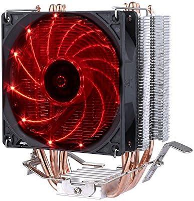 upHere 4 Heatpipes Ventilador de CPU con Rojo LED Ventiladores PWM de 92mm-C92R: Amazon.es: Electrónica
