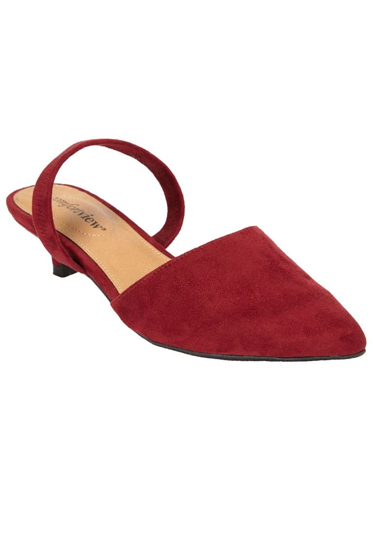 Comfortview Women's Wide The Katiya Pump B07DL4LPYR 7.5 XW US|Rich Burgundy