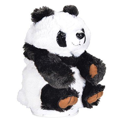 LUQUAN Cute Plush Pet Panda Electronic Copy Voice Talking Toy For Kids - Black + White (3Xaaa)