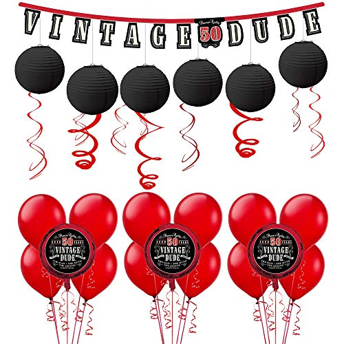 Party City Vintage Dude 50th Birthday Decorating Kit