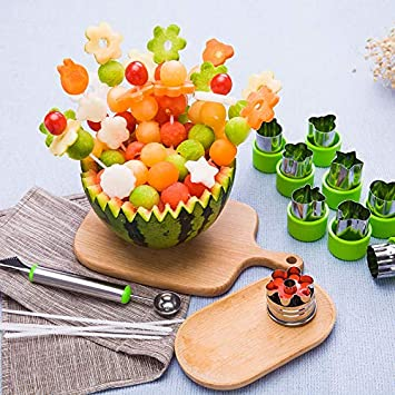 Amazon.com: Apark Vegetable Animal Cartoon Cutters Shapes Set,Mini Cutters Shape, Cookie Cutters stamps Pie Crust Fruit Vegetable Mold Tools Pentagram, ...