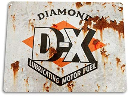 Superieur TIN Sign DX Motor Oil Gas Garage Auto Shop Retro Metal Oil Decor Fuel Gas