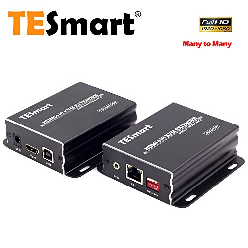 - TESmart 400 ft HDMI KVM Extender Over TCP/IP Ethernet/Over Single Cat5e/cat6 Cable 1080P with IR Remote - Up to 400 ft (One Sender + One Receiver)