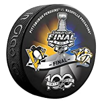 2017 Stanley Cup Finals Puck Dueling Teams Predators Vs. Penguins Championship Series Puck