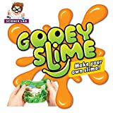 Gooey Science Experiments Kit for Kids - 6 Slime Lab Projects. Everything included in Set + Instruction Manual