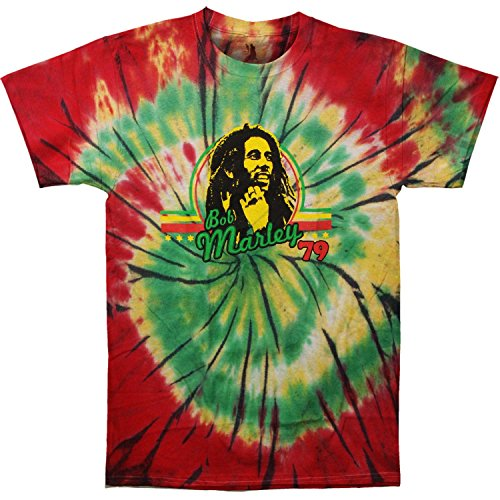 Bob Marley Men's '79 Tie Dye T-shirt X-Large Multi