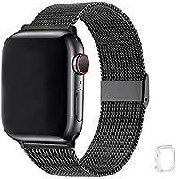 WFEAGL コンパチブル apple watch バンド, コンパチブルiWatch通用ベルト apple watch 6/5/4/3/2/1, SEに対応 交換ベルトステンレス製