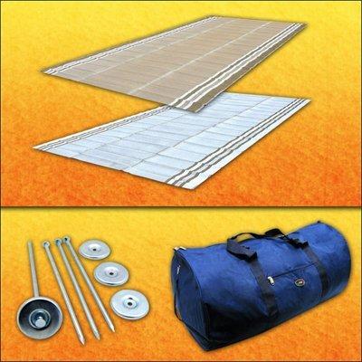 Rv Mat Awning Mat - RV Patio Mat Awning Mat Outdoor Rug Trailer Mat Complete Kit 9x18 (Desert Sands Beige)