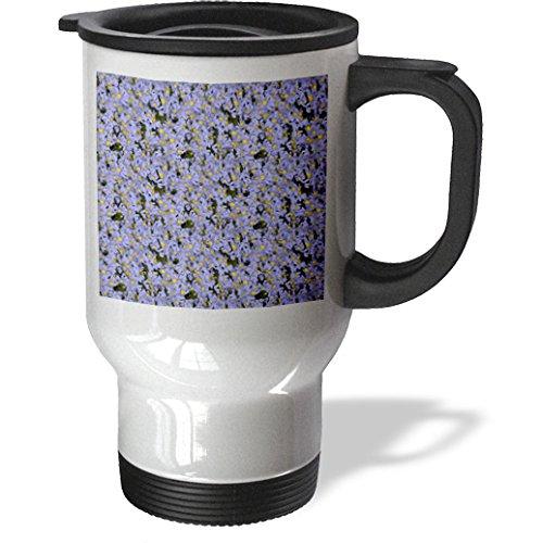 Ice Bucket - Flowers - Bright and Beautiful Purple Daisies - 14oz Stainless Steel Travel Mug (tm_211775_1)